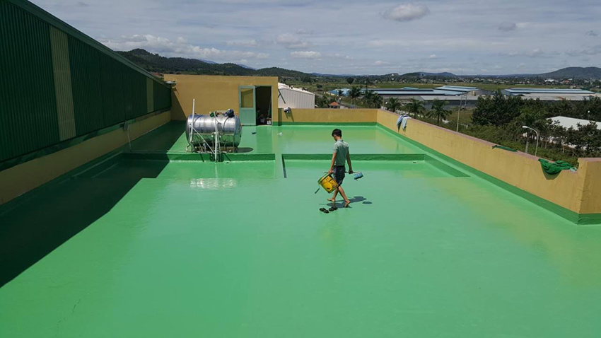 Chống thấm sàn mái bằng sơn gì
